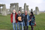 The Diary is in Stonehenge with friends