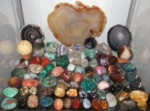 Collection of stones, polished