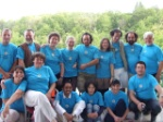 Group of artists at Kicevo art colony incl Feridun Isiman and Hasan Zeybek