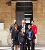 The Headmaster and the teachers in front of the school (Foto by Fatma Altayli)