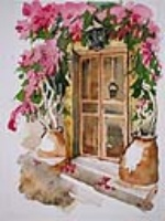 Bougainvillea doorway