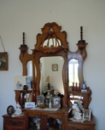 Antique beautiful mirror console made in Cyprus