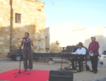 Yasar Ersoy and some actors and actresses reciting poems by local poets