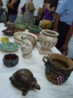 Ceramic section on display