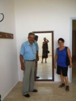 Bekir and Fatma in one of the dressing rooms