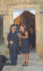 President Dimitris Christofias and H.E. Dr. Gabriela Guellil, the German Ambassadress