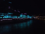 Amasya along the river at night