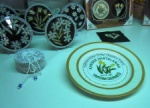 handicraft on display - plate decorated by children