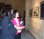 Dr. Sibel Siber is accompanied by a student artist