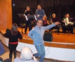 A Greek Cypriot guest dances to the Cypriot tunes