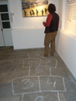Hasan Zeybek posing for me on the hopscotch