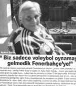 Interview with Dr. Ayten Salih by Fenerbahce