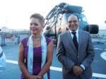 Dr. Gabriela Guillil, Ambassador of Germany and her husband Naguib