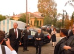 HE President D. Christofias arrives with his wife