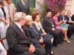 The bench of honorary guests