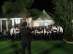 A Greek Cypruiot School class singing the German Anthem