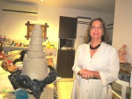 Fatma Özok with her own creation