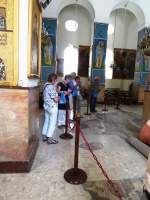 Orthodox church in Madaba with the mosaic Jordan map