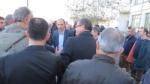Prof. Dr. Kudret Özersay arriving at the Ministry of the Interior Nicosia