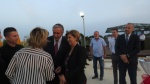HE Mustafa Akinci and his wife Meral arriving at the event
