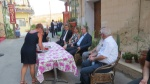 HE M.Akinci and his wife Meral being served the water of welcome