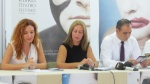 At the press conference, here Aliye Ummanel (LBT Dramaturg) Kiymet Karabiber (LBT Director) and Mehmet Harmanci (Nicosia Mayor)