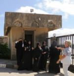 Students with their teacher at the Hiob Tomb