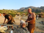 The German Bronze Age Representatives doing stone works and bronze casting