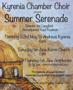 Kyrenia Chamber Choir Summer concerts