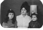 Mom Rosa with daughters Viola and Layla in Beirut