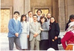 Oskay and friends from the theatre Yasar Ersoy, Osman Alkas, Erol Refikoglu, Isin Refikoglu Cem etc
