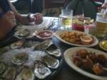 Oysters and Creole shrimps