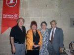 A concert in Bellapais with members of the Music Foundation, Ilker and Rezzan Nevzat, Ali was very active for.