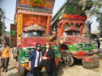 Painted busses in Karachi - Semral with Prof.Sevim Cizer from Ege University,Turkey.