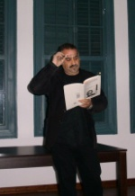 Ümit Inatci reading a poem in memoriam of Fikret Demirag