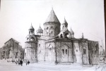An ink drawing I bought from an Armenian artist who was working in front of a church...