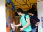 Young graffiti painters