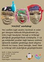 A course for making masks from paper pulp